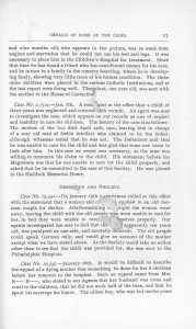 page from 1901 annual report detailing cases of child abuse